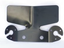 Large, black bumper protector, including socket mountings